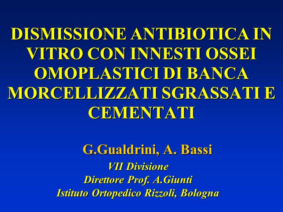 Relazione presentata al Convegno su Infezioni protesiche: approccio multidisciplinare ad una patologia invalidante.