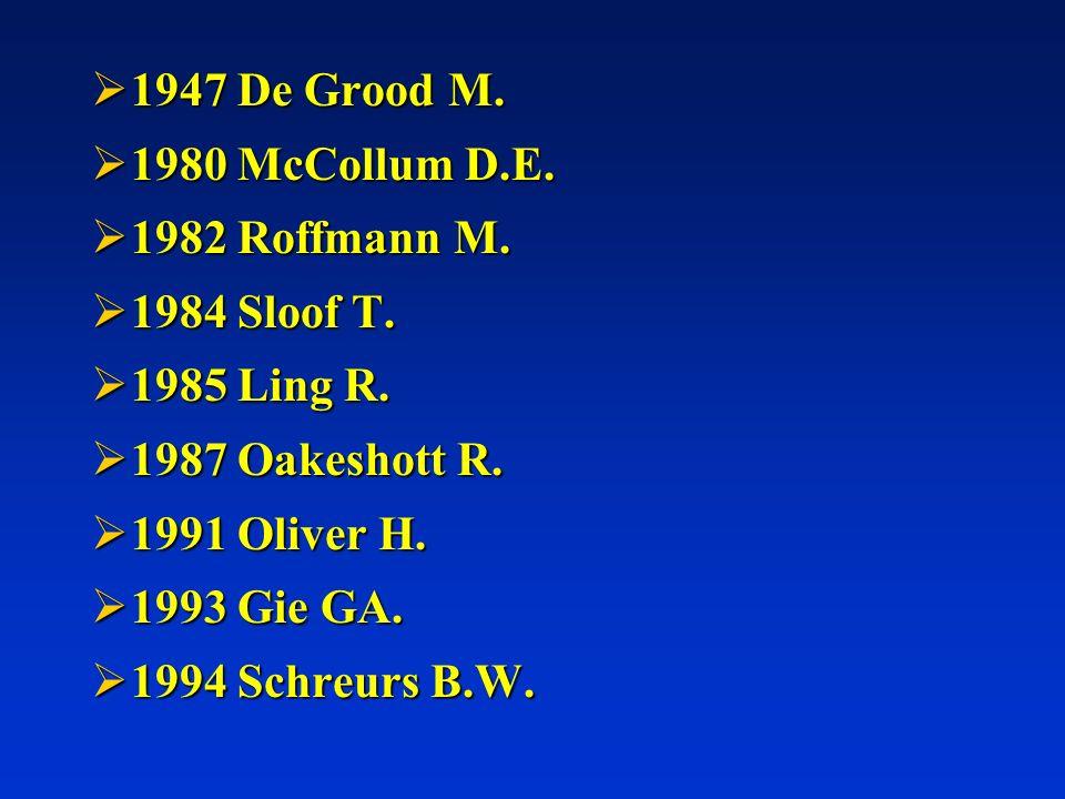 1947 De Grood M. 1947 De Grood M. 1980 McCollum D.E. 1980 McCollum D.E. 1982 Roffmann M. 1982 Roffmann M. 1984 Sloof T. 1984 Sloof T. 1985 Ling R. 198