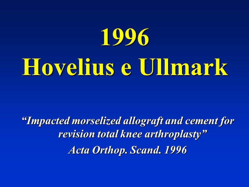 Nel 1996 Hovelius e Ullmark descrivono in modo standardizzato la produzione di innesti morcellizzati omoplastici utilizzati nella revisione di protesi mobilizzate di ginocchio.