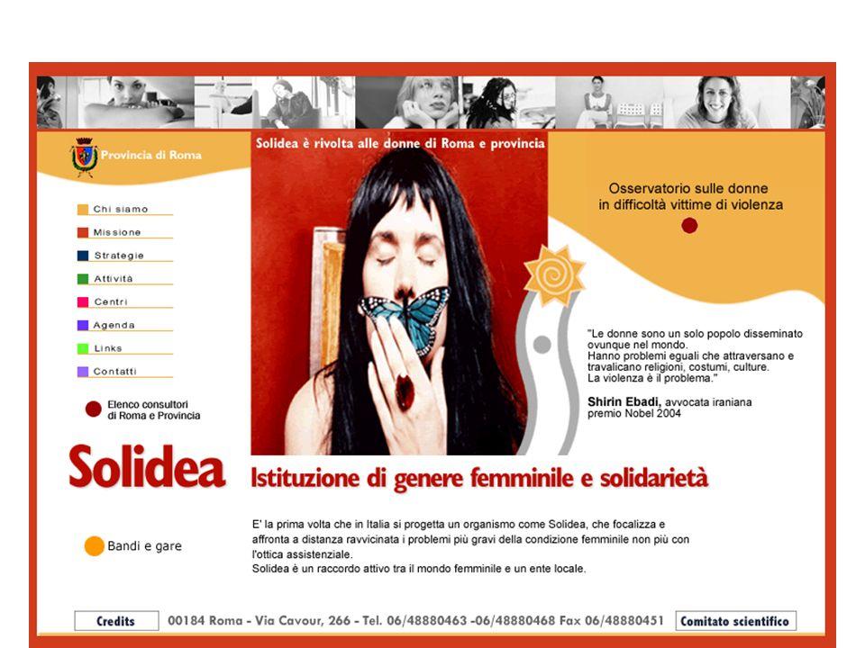 Link utili http://www.vitadidonna.it http://www.telefonorosa.it http://www.arcidonna.it http://www.pariopportunita.gov.it http://www.retepariopportunita.it http://www.salutementaledonna.it http://www.asp.it http://www.didaweb.it http://www.volontariato.lazio.it http://www.risorsedonne.it http://www.osservatoriodonna.igol.it/news/default.asp#due http://www.italiadonna.it/lavoro/links.htm http://www.vitaminadonna.it http://www.equalsam.net http://LinkLavoro.it http://www.assila.it http://www.domanidonna.it http://www.iris-asbl.org http://www.osservatoriodonna.igol.it Torna alla home page