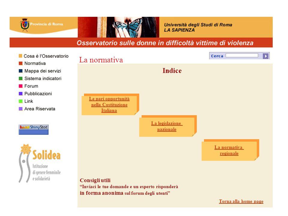 Area Riservata Nome utente Solidea Password donne entra Profilo operatore Torna alla homepage
