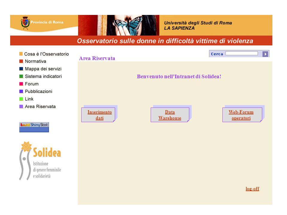 Area Riservata Benvenuto nellIntranet di Solidea.