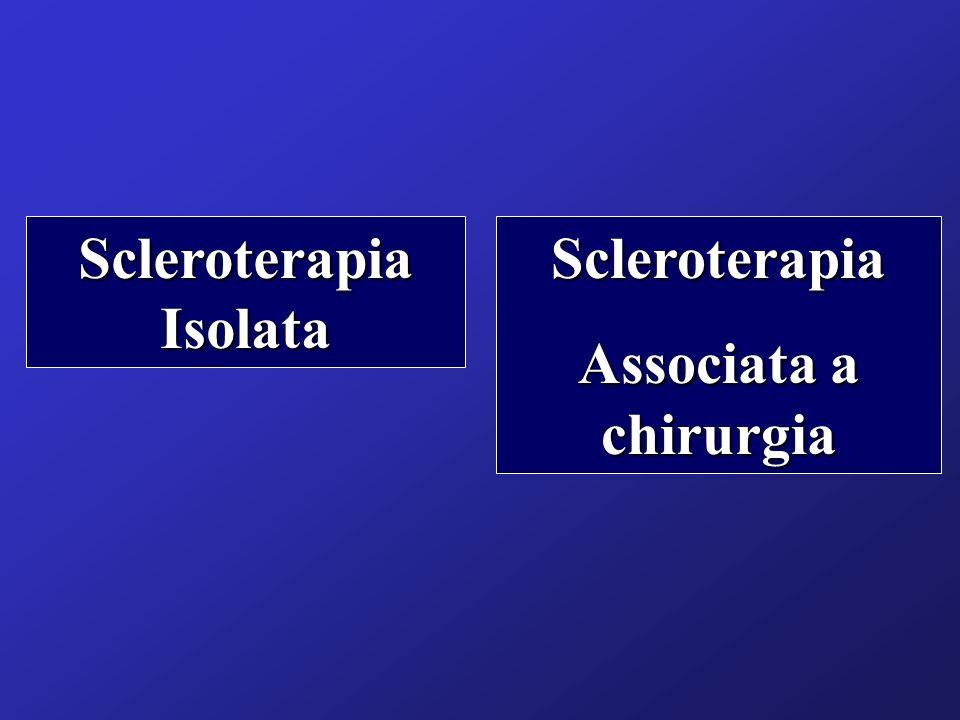 Scleroterapia Isolata Scleroterapia Associata a chirurgia