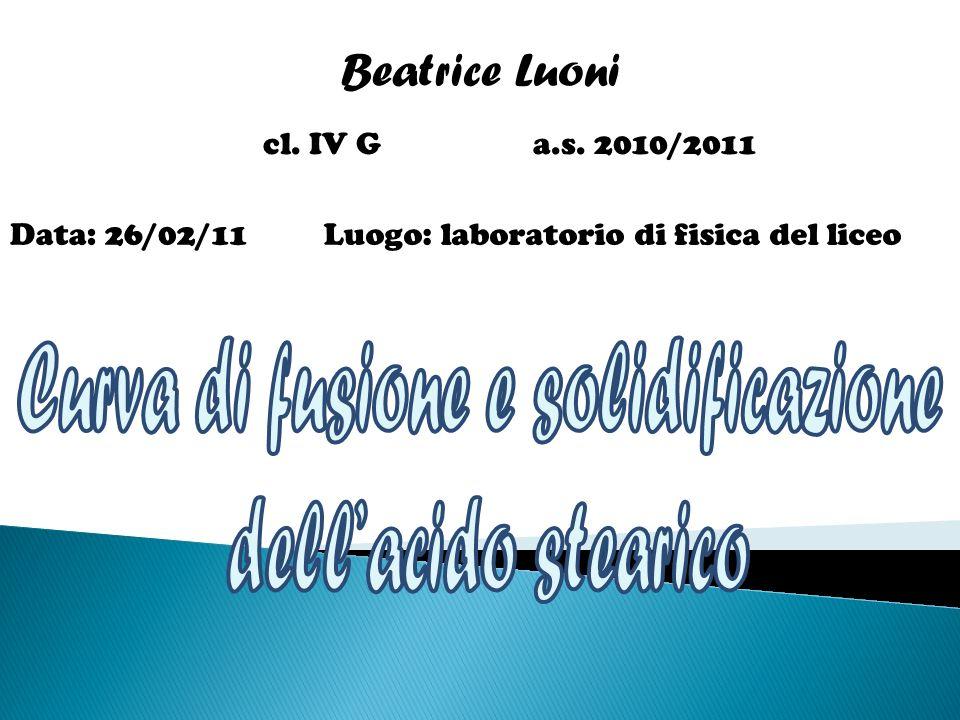 Beatrice Luoni cl. IV G a.s. 2010/2011 Data: 26/02/11Luogo: laboratorio di fisica del liceo