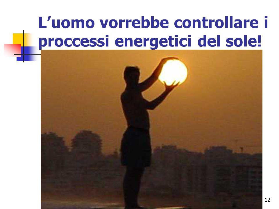 12 Luomo vorrebbe controllare i proccessi energetici del sole!