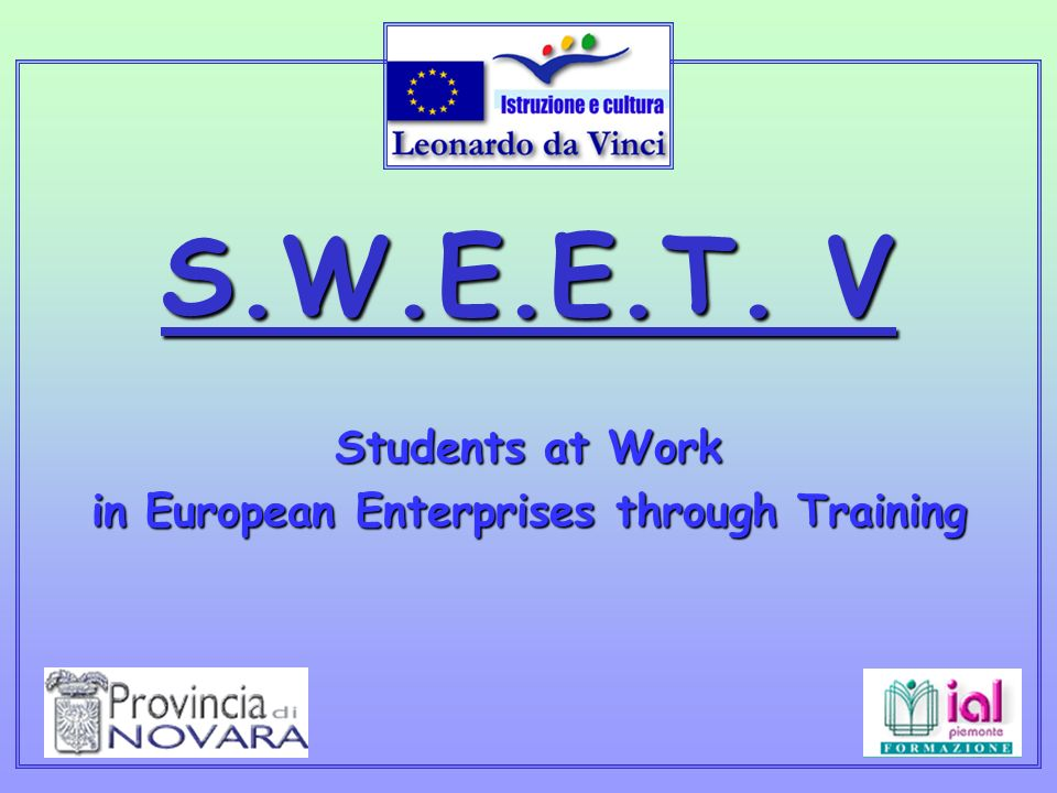 Programma Leonardo Da Vinci Provincia di Novara, Ial Piemonte.
