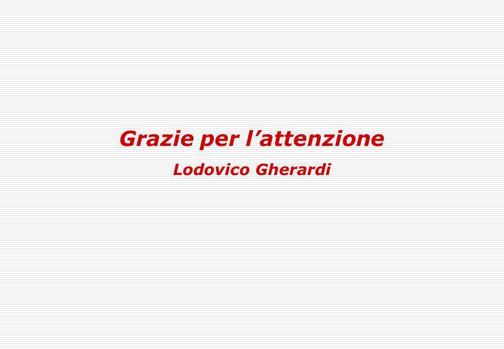 Grazie per lattenzione Lodovico Gherardi