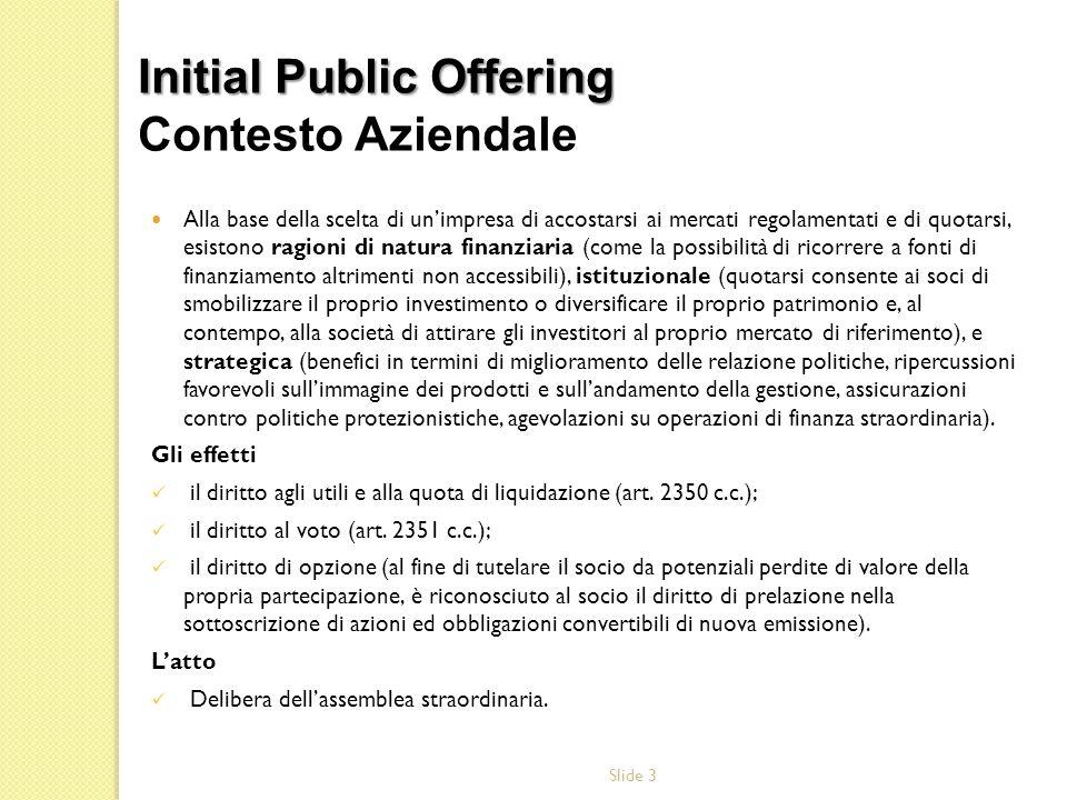 Slide 24 OPA e OPSC: offerta pubblica di acquisto o di scambio RE Art.