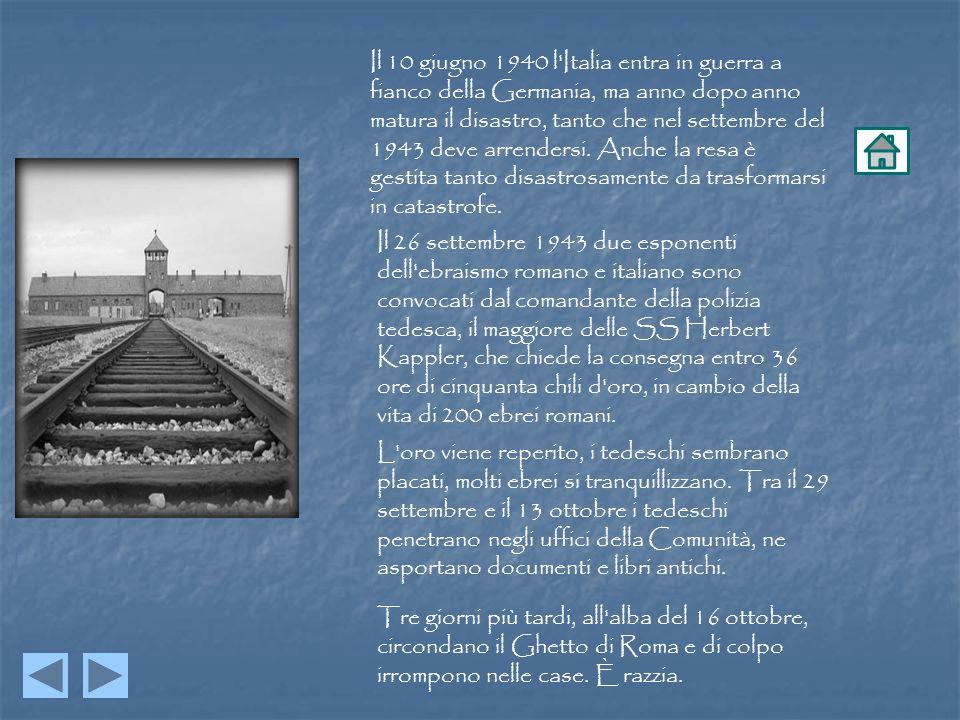 Il 10 giugno 1940 l'Italia entra in guerra a fianco della Germania, ma anno dopo anno matura il disastro, tanto che nel settembre del 1943 deve arrend