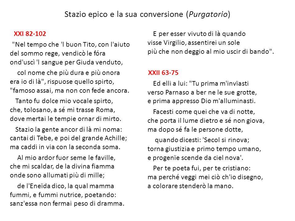 Stazio epico e la sua conversione (Purgatorio) XXI 82-102