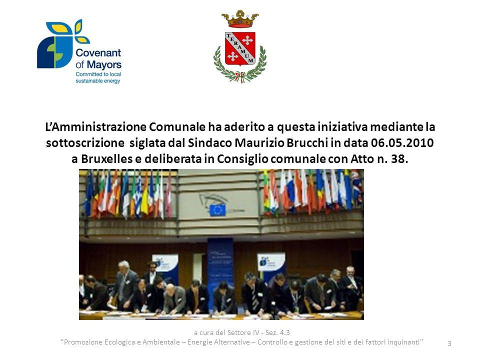 LAmministrazione Comunale ha aderito a questa iniziativa mediante la sottoscrizione siglata dal Sindaco Maurizio Brucchi in data 06.05.2010 a Bruxelles e deliberata in Consiglio comunale con Atto n.
