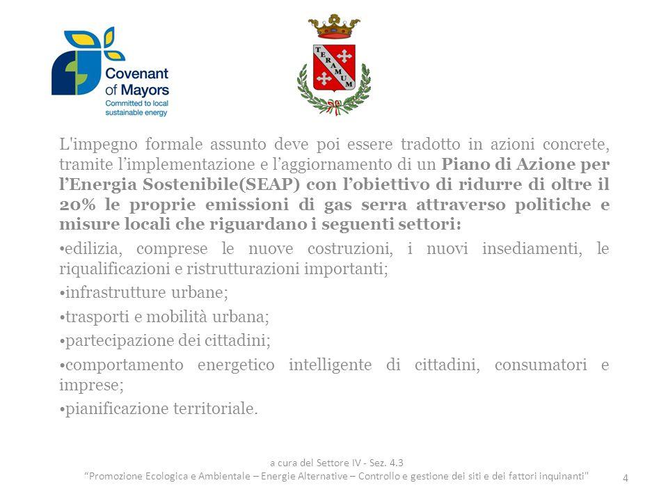 Le azioni già intraprese dal Comune di Teramo 5.Mobilità sostenibile 15 a cura del Settore IV - Sez.