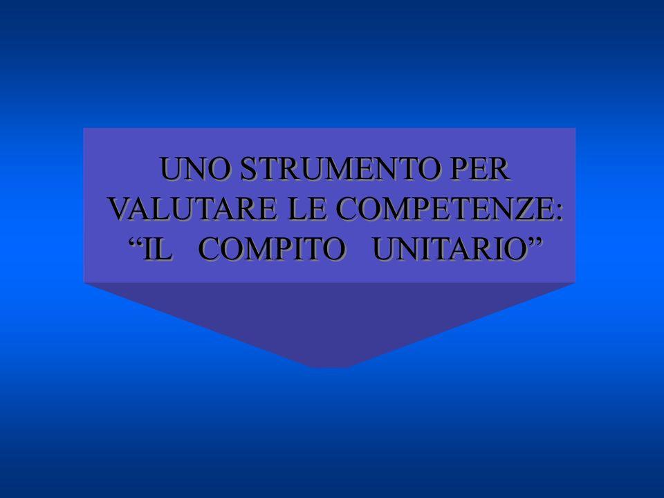 UNO STRUMENTO PER VALUTARE LE COMPETENZE: IL COMPITO UNITARIO