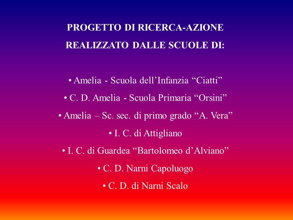 PROGETTO DI RICERCA-AZIONE REALIZZATO DALLE SCUOLE DI: Amelia - Scuola dellInfanzia Ciatti C. D. Amelia - Scuola Primaria Orsini Amelia – Sc. sec. di