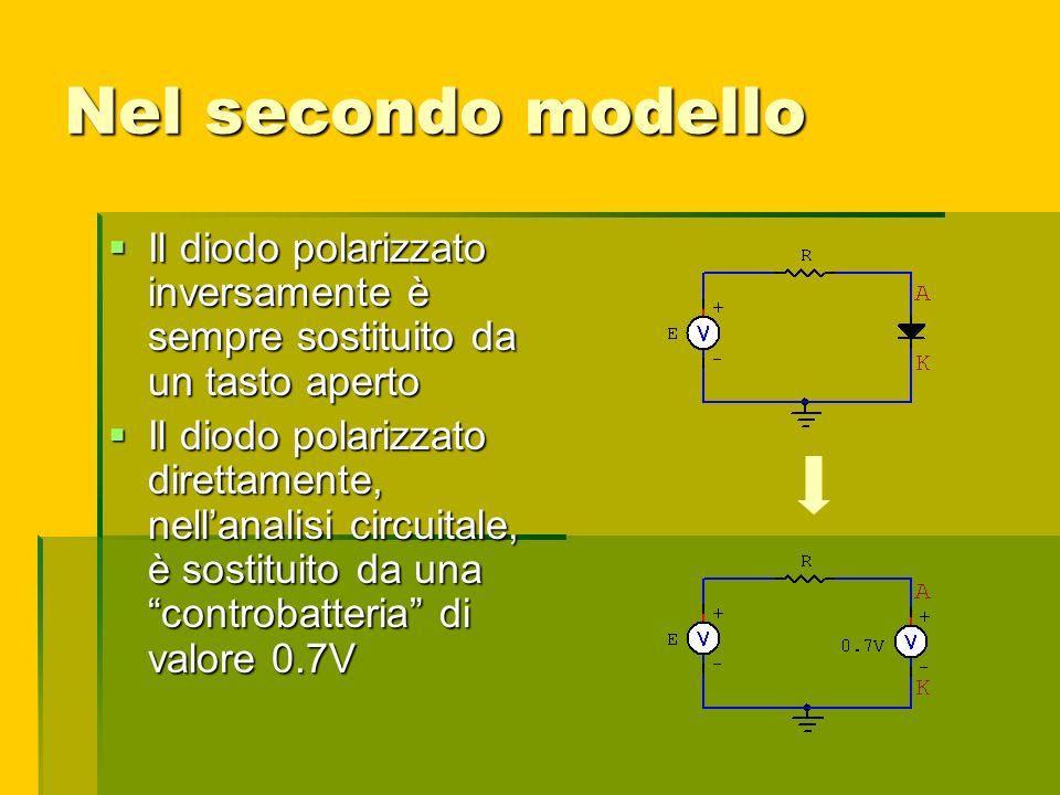 Nel secondo modello Il diodo polarizzato inversamente è sempre sostituito da un tasto aperto Il diodo polarizzato inversamente è sempre sostituito da