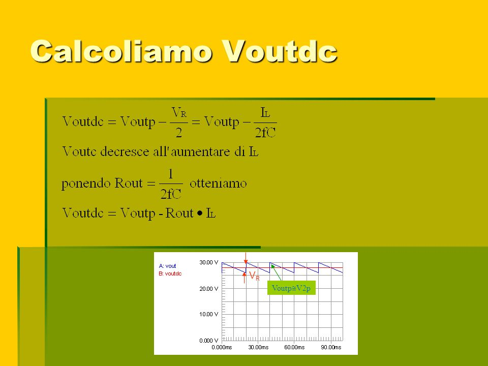Calcoliamo Voutdc VRVR Voutp V2p