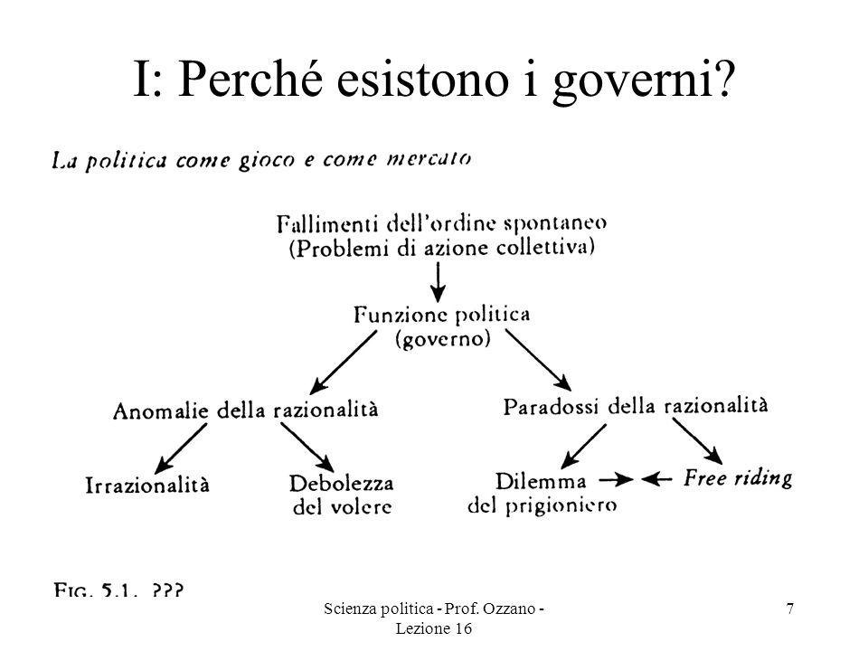 Scienza politica - Prof.Ozzano - Lezione 16 8 La teoria dei giochi [B pp.