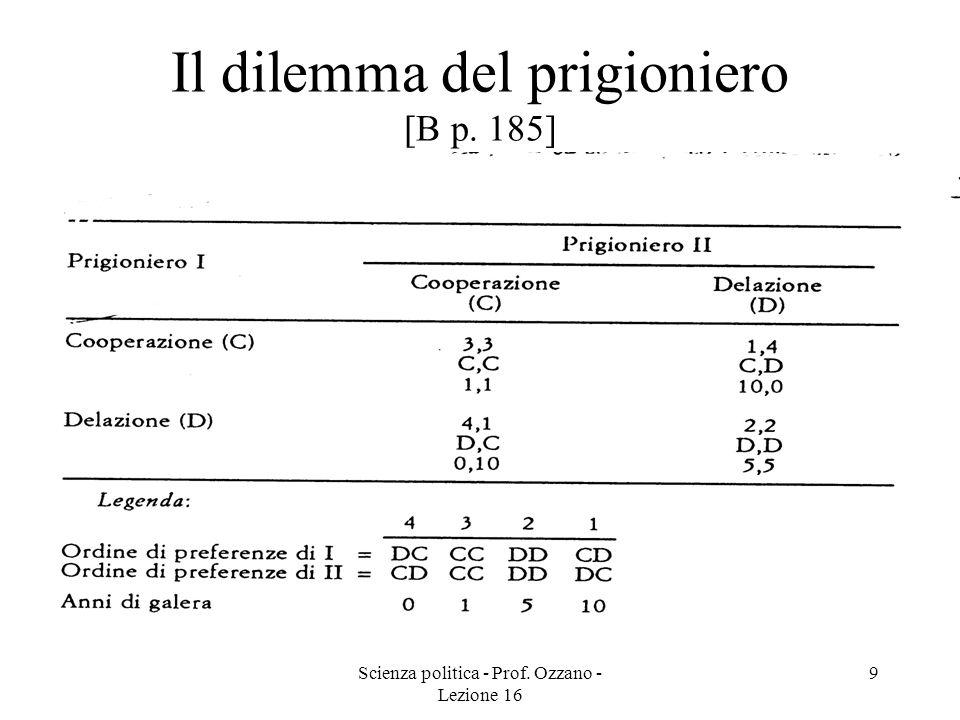 Scienza politica - Prof.Ozzano - Lezione 16 10 Problema del free-rider [B pp.