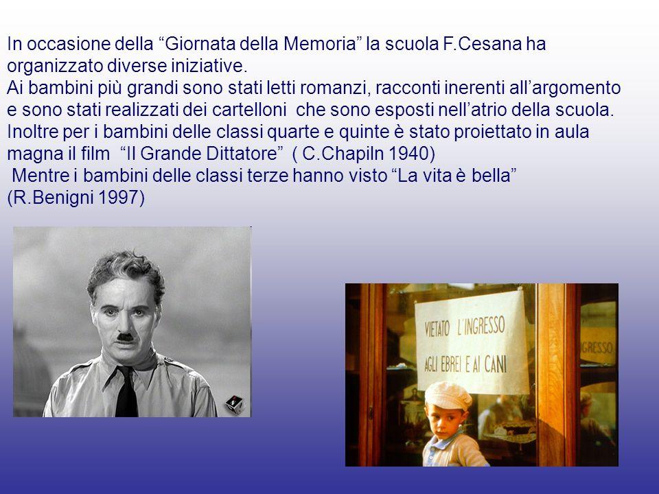 In occasione della Giornata della Memoria la scuola F.Cesana ha organizzato diverse iniziative.