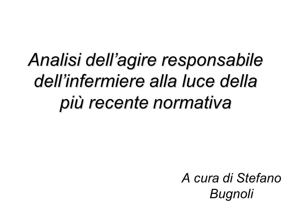 A cura di Stefano Bugnoli Analisi dellagire responsabile dellinfermiere alla luce della più recente normativa