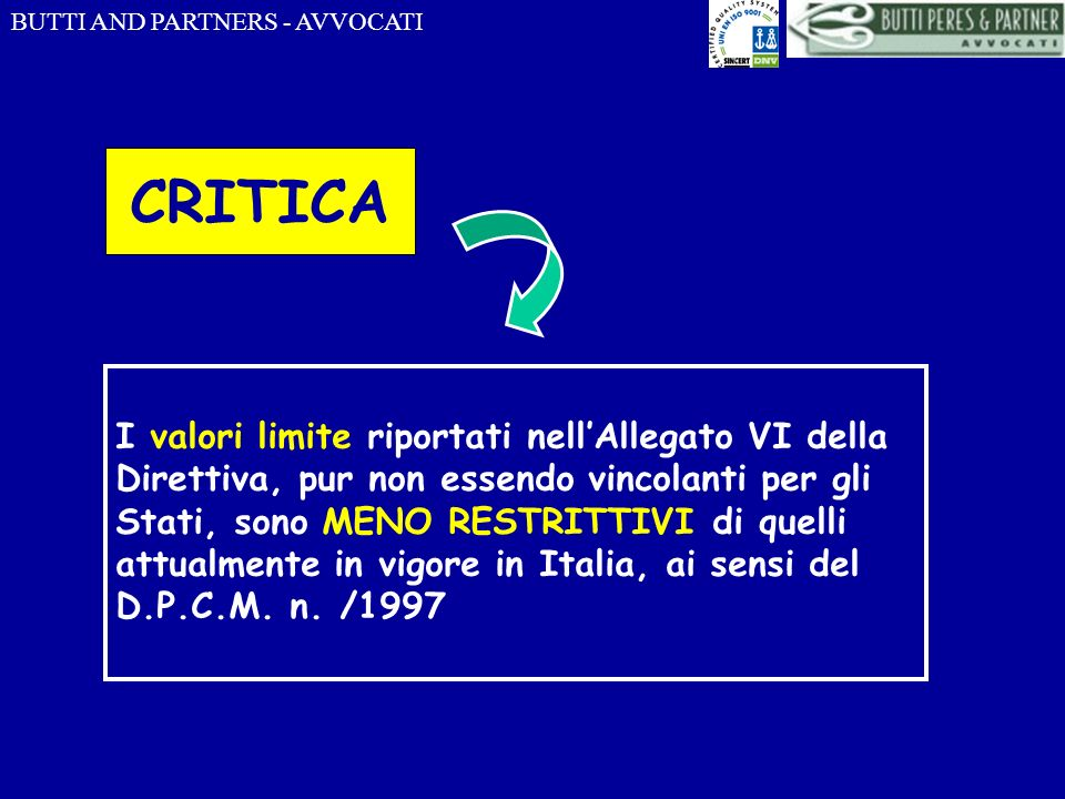 BUTTI AND PARTNERS - AVVOCATI D.lgs 19 agosto 2005, n.