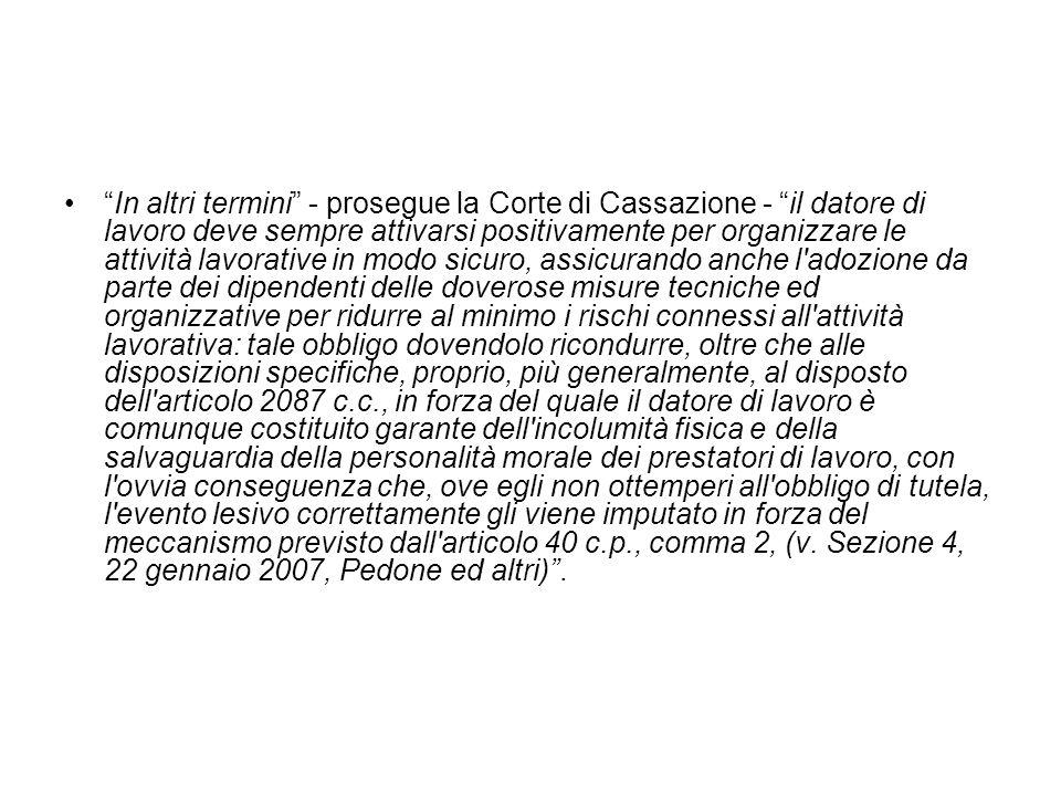 Cassazione Sezione IV – Sentenza n.11216 del 13 marzo 2009 - Pres.