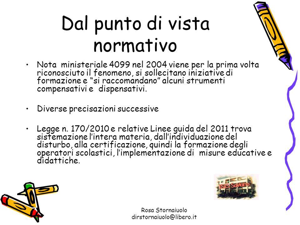 Rosa Stornaiuolo dirstornaiuolo@libero.it Dal punto di vista normativo Nota ministeriale 4099 nel 2004 viene per la prima volta riconosciuto il fenome