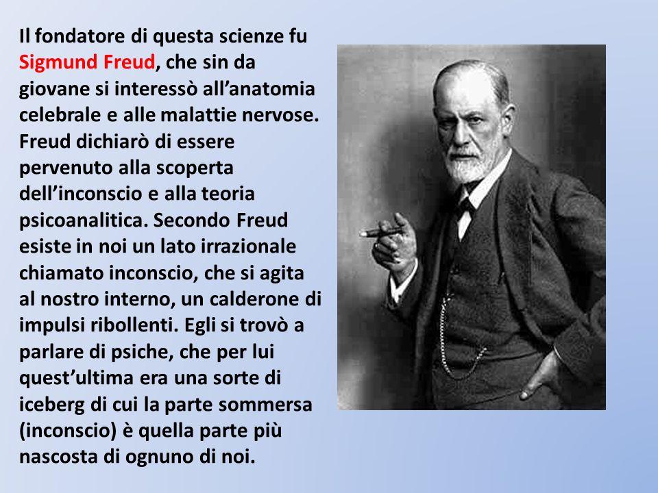 Il fondatore di questa scienze fu Sigmund Freud, che sin da giovane si interessò allanatomia celebrale e alle malattie nervose. Freud dichiarò di esse