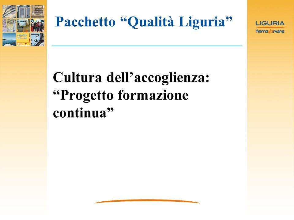 Cultura dellaccoglienza: Progetto formazione continua Pacchetto Qualità Liguria