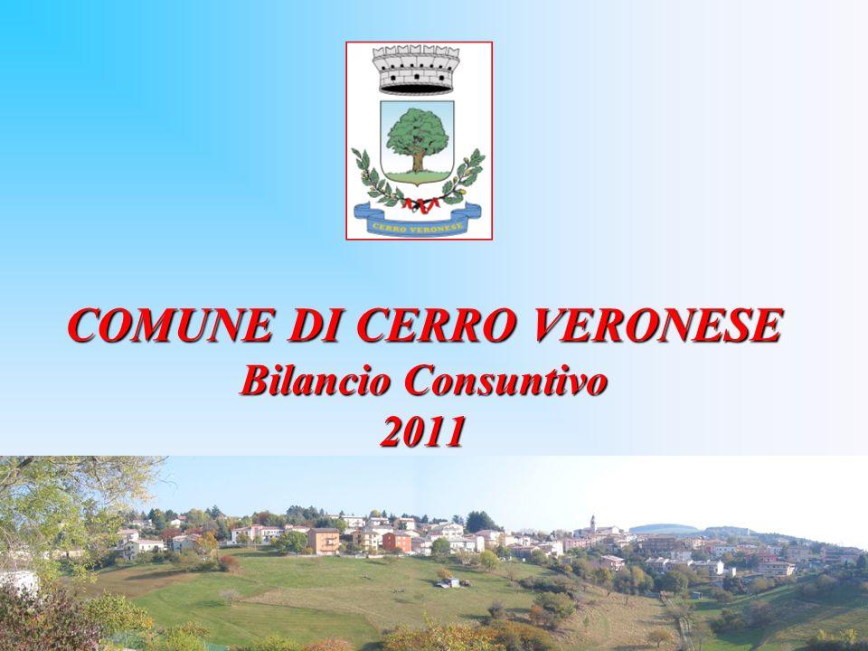 COMUNE DI CERRO VERONESE Bilancio Consuntivo 2011