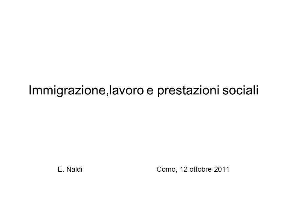 Immigrazione,lavoro e prestazioni sociali E. Naldi Como, 12 ottobre 2011