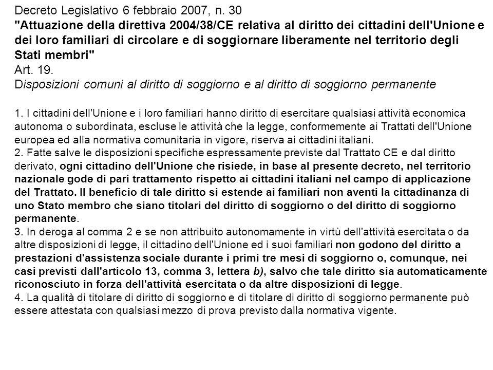 Decreto Legislativo 6 febbraio 2007, n. 30