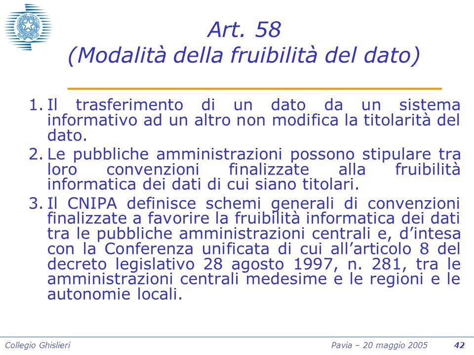 Collegio Ghislieri Pavia – 20 maggio 2005 42 Art.
