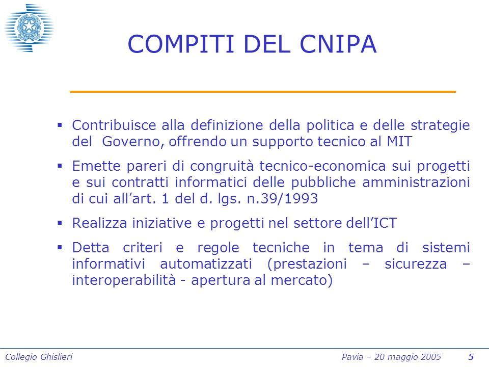 Collegio Ghislieri Pavia – 20 maggio 2005 46 Art.