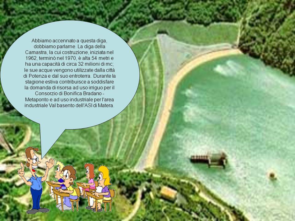 Abbiamo accennato a questa diga, dobbiamo parlarne. La diga della Camastra, la cui costruzione, iniziata nel 1962, terminò nel 1970, è alta 54 metri e
