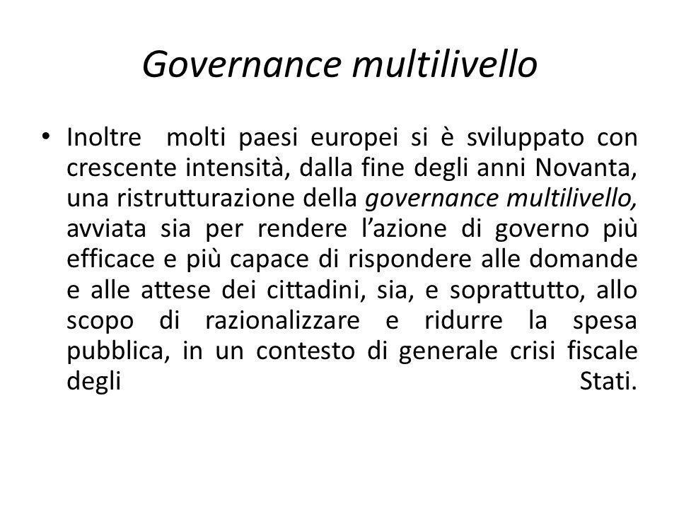 Italia Fin dallUnità dItalia si è posto il tema del rapporto tra Stato unitario e quello che definiamo il sistema delle autonomie Nel 1861 fu scartata lopzione federalista, ritenuta rischiosa per le sorti del nuovo Stato unitario, ma anche la scelta regionalista.