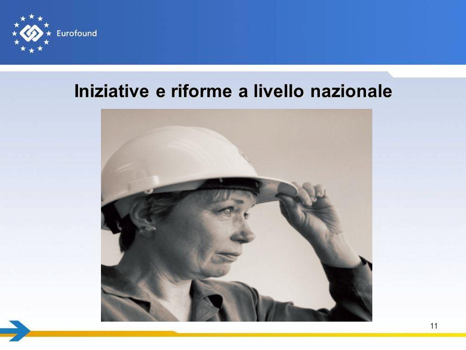 Iniziative e riforme a livello nazionale 11