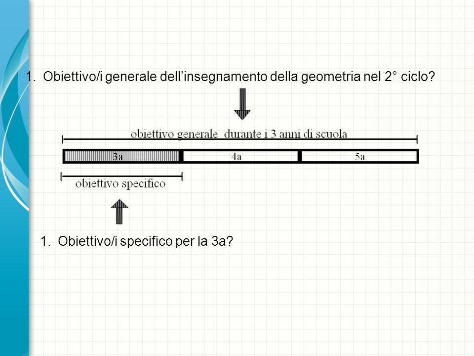 1.Obiettivo/i generale dellinsegnamento della geometria nel 2° ciclo.