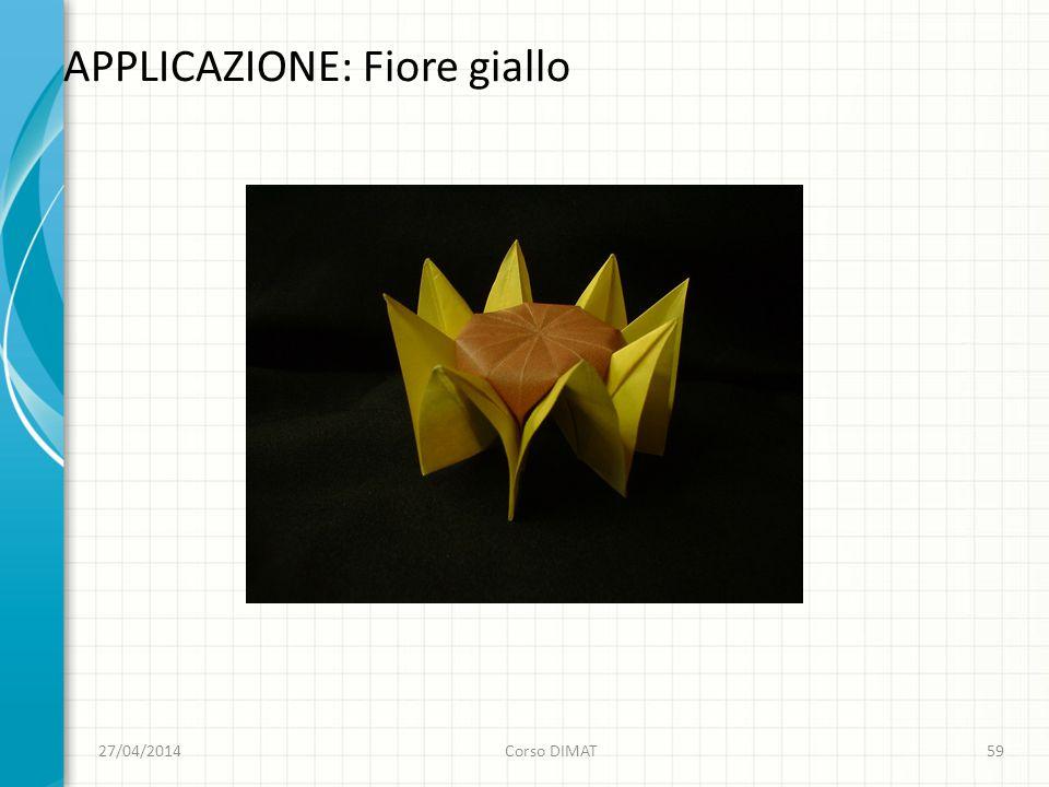 APPLICAZIONE: Fiore giallo 27/04/2014Corso DIMAT59