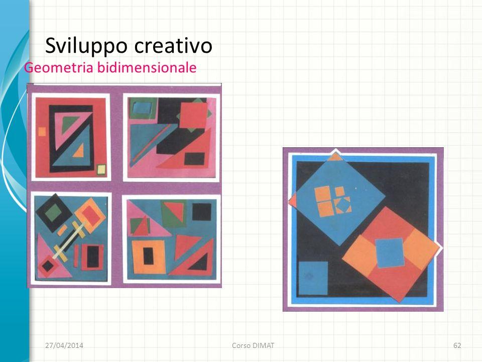 Sviluppo creativo Geometria bidimensionale 27/04/2014Corso DIMAT62