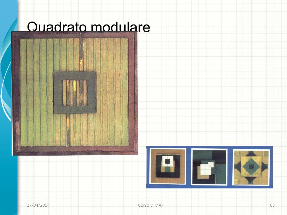 Quadrato modulare 27/04/2014Corso DIMAT63