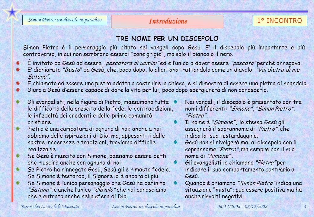 Gv.21,13-23 : IL RECUPERO (PARZIALE) DI PIETRO (3) Parrocchia S.