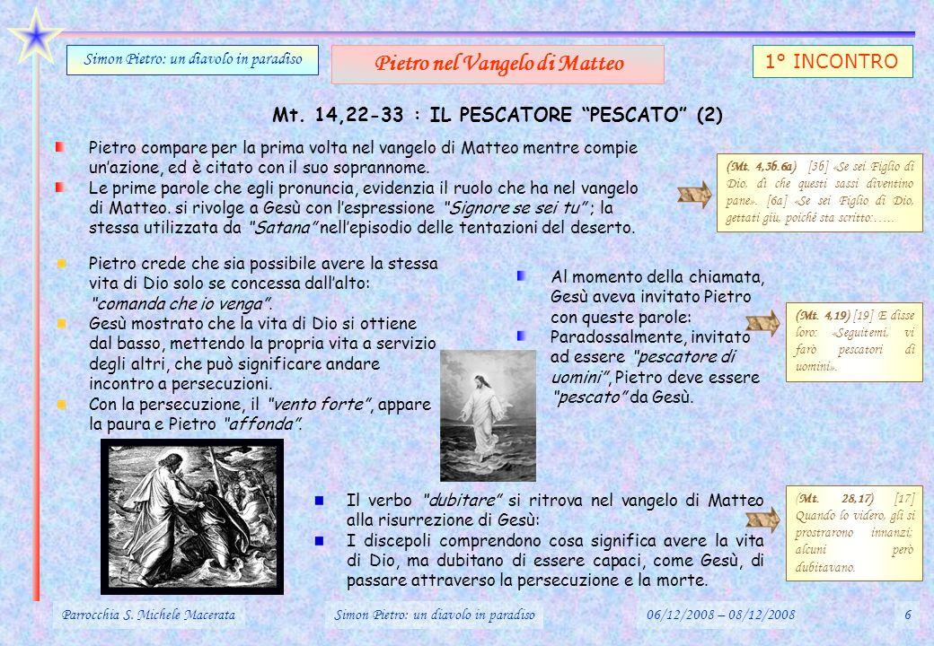 AT.11,1-30 : PIETRO IN DIFFICOLTA: LE DUE COMUNITA DI GERUSALEMME (1) Parrocchia S.