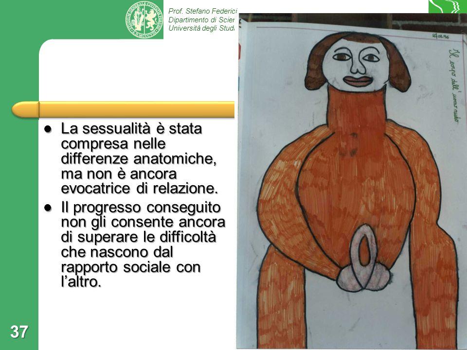 Prof. Stefano Federici Dipartimento di Scienze Umane e della Formazione, Università degli Studi di Perugia 37 La sessualità è stata compresa nelle dif