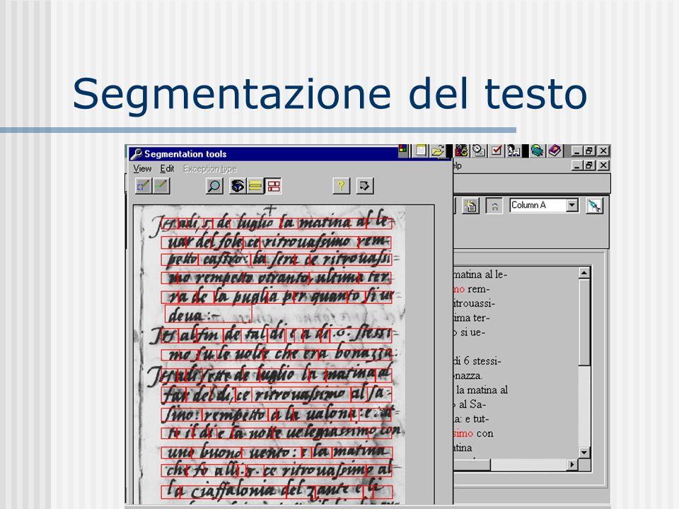 Segmentazione del testo
