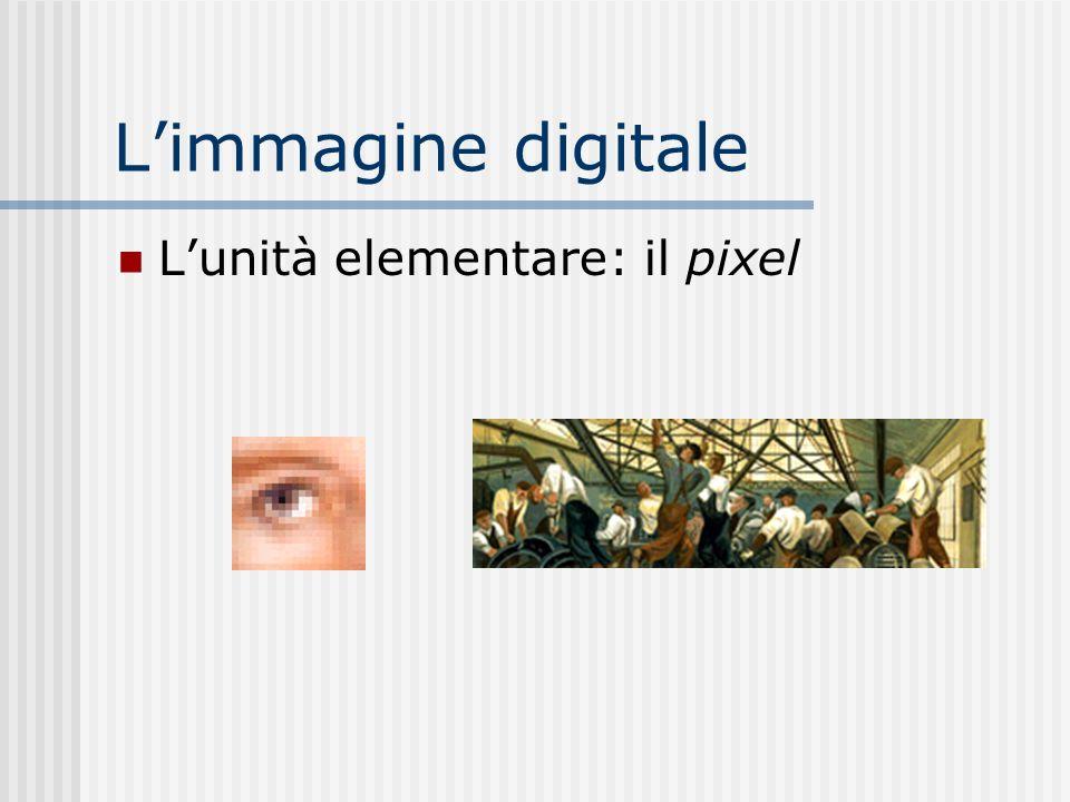 Limmagine digitale Lunità elementare: il pixel