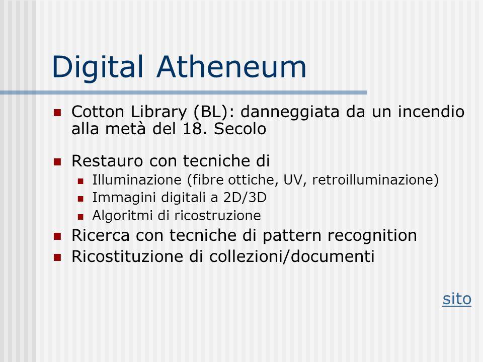 Digital Atheneum Cotton Library (BL): danneggiata da un incendio alla metà del 18.