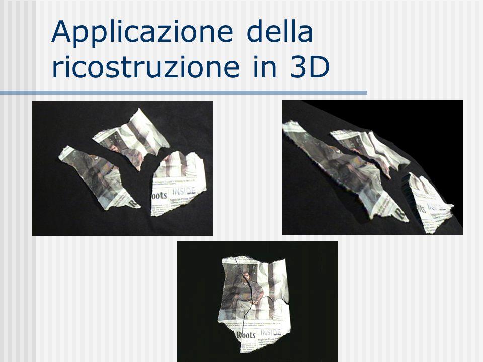Applicazione della ricostruzione in 3D