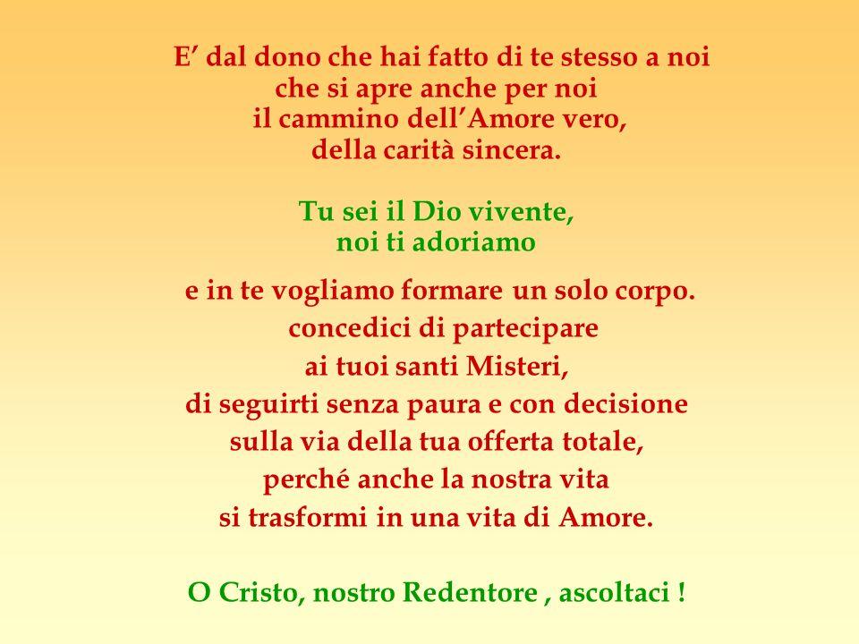 GIOVEDI SANTO Signore Gesù tu hai detto: Vi do un comandamento nuovo: che vi amiate gli uni gli altri come io ho amato voi.