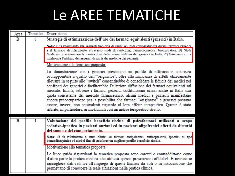 Le AREE TEMATICHE